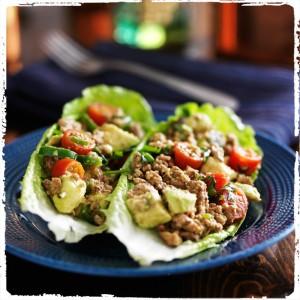 Atkins Taco lettuce wraps